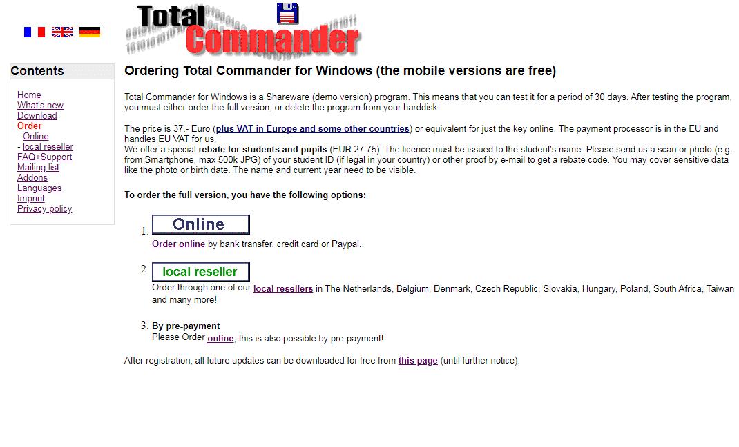 Официальный сайт: покупка лицензии